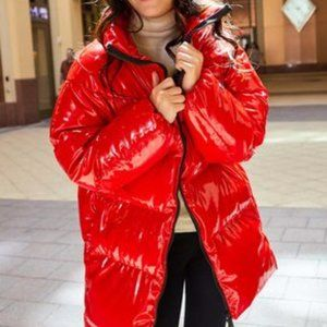 NWT Juicy Couture Glossy Oversized Puffer Coat